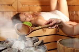 Расслабление в сауне